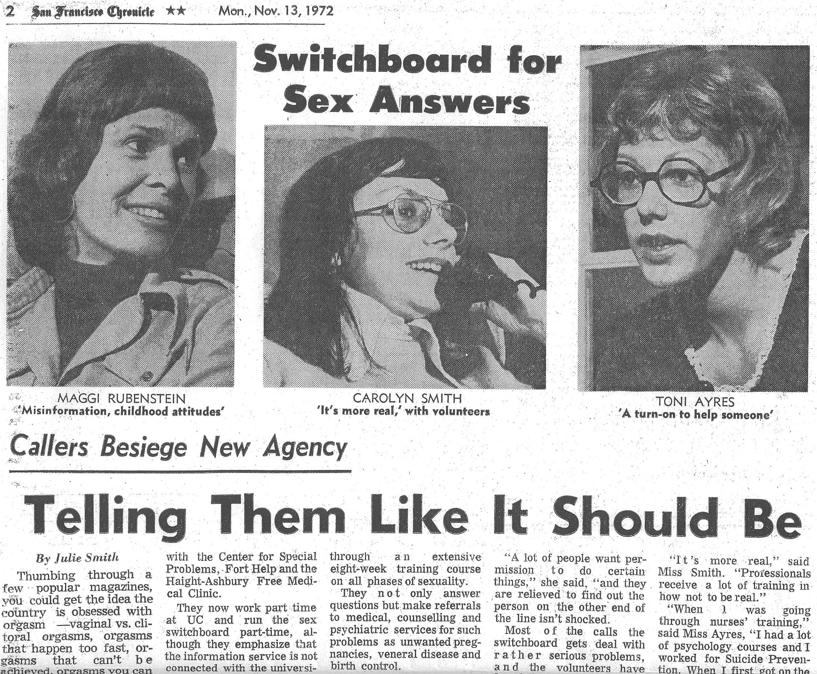 1972 SF Chronicle Article About SFSI's Founding